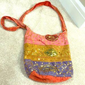 Handbags - Boutique beaded purse w/ evil eyes